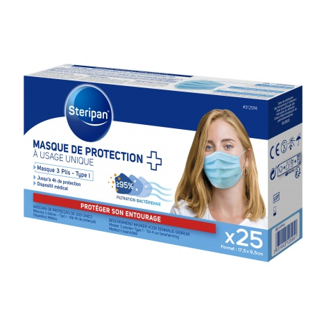 MASQUE DE PROTECTION À USAGE UNIQUE