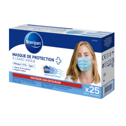 MASQUE DE PROTECTION À USAGE UNIQUE