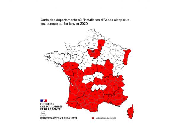 carte des moustiques France